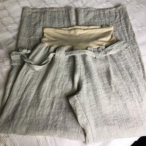 Pants - Maternity linen pants